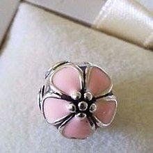 Pandora Silver Charm 潘朵拉 純銀 定位珠 Sakura Cherry Blossom Clip 日本櫻花 定位扣 791041EN40