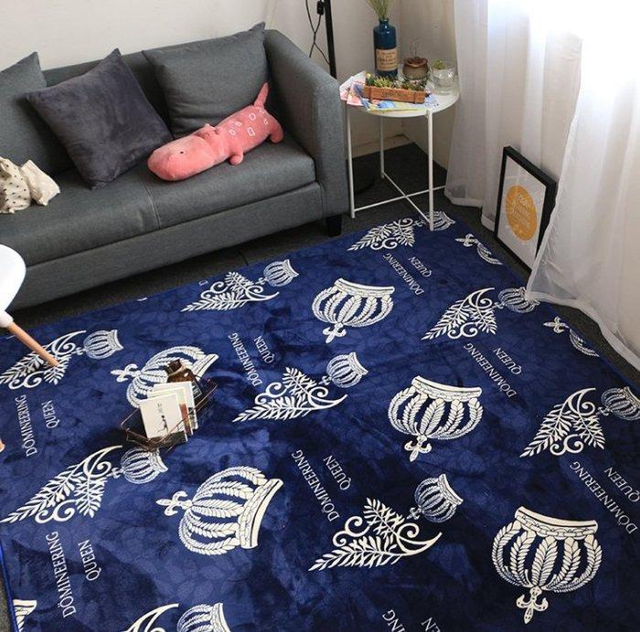 歐美法萊絨潮牌克羅心地墊瑜伽墊客廳茶几臥室床邊地毯兒童爬行墊