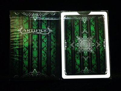 寶石綠撲克牌 綠色詭計撲克牌Emerald Artifice Green Artifice 收藏牌