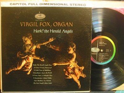 140*Capitol彩虹標*美版黑膠唱片*管風琴大師Virgil Fox –Hark! The Herald Angels*NM