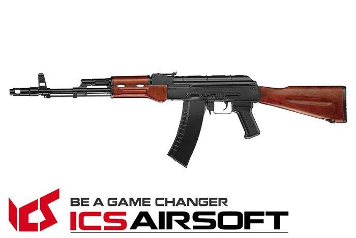 【翔準軍品AOG】ICS MAR(木質)固定托 AK 長槍 電動槍 步槍 生存遊戲 ICS-36