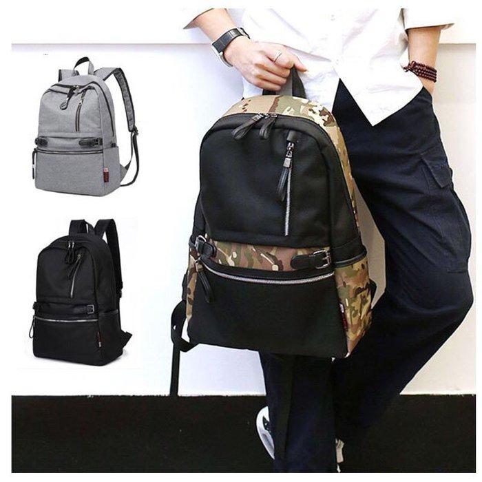 日韓 書包 拉鍊 後背包 學生後背包 筆電包 電腦包 背包 公事 包包 男後背包 防盜後背包 旅行袋 旅行包 後背包男