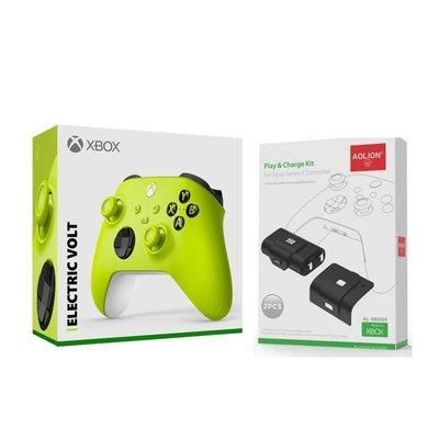 [哈GAME族]現貨Xbox Series 電擊黃 無線藍牙控制器+AL-XB2020 Xbox Series 手把電池