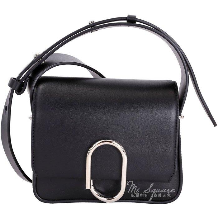 米蘭廣場3.1 Phillip Lim Alix Flap 金屬迴紋針造型斜背包(Mini/黑色)1710739-01