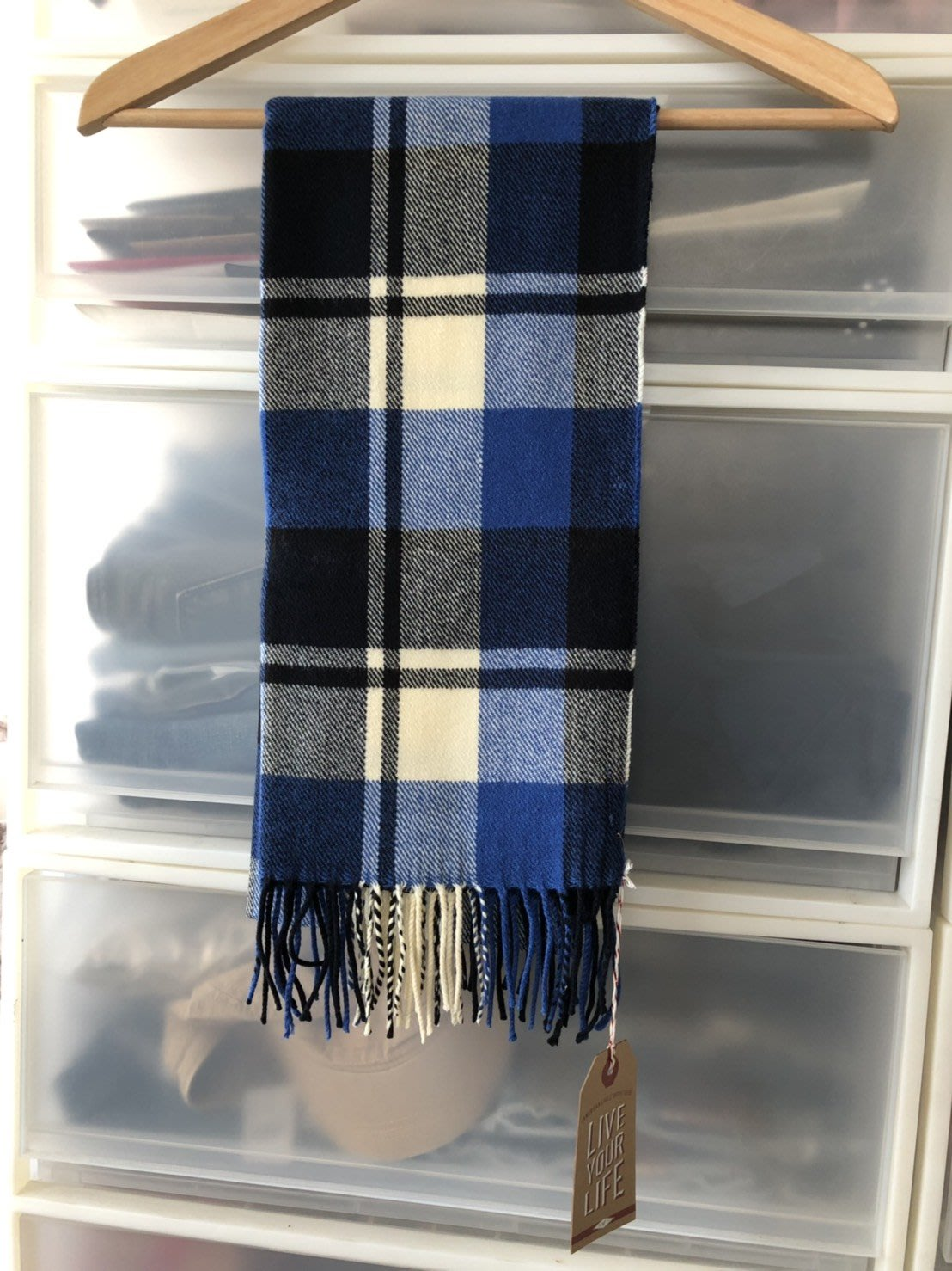 美國 AMERICAN EAGLE 老鷹 格紋圍巾現貨