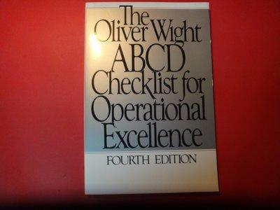 【愛悅二手書坊 06-22】The Oliver Wight ABCD Checklist for Operationa