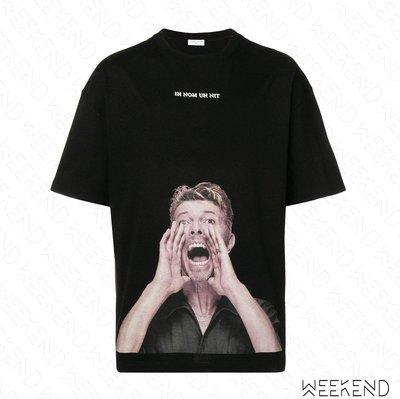 【WEEKEND】 IH NOM UH NIT David Bowie Loud 短袖 上衣 T恤 黑色 19春夏