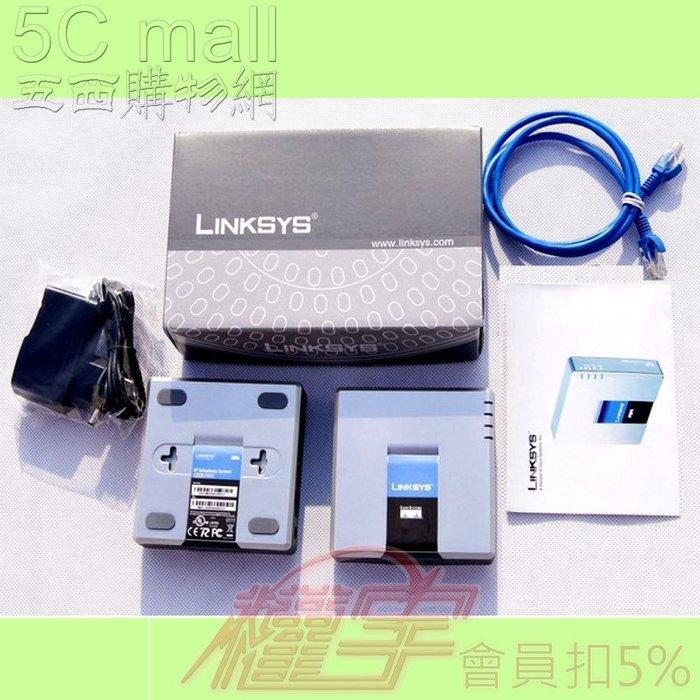5Cgo【權宇】IP VOIP CISCO linksys網路語音路由器閘道器PAP2T-NA PAP2 2路電話 含稅