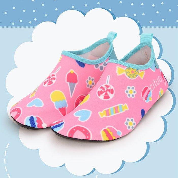 小花花精貨店-兒童沙灘鞋游泳潛水襪寶寶浮潛鞋涉水溯溪防滑貼膚鞋#沙灘鞋