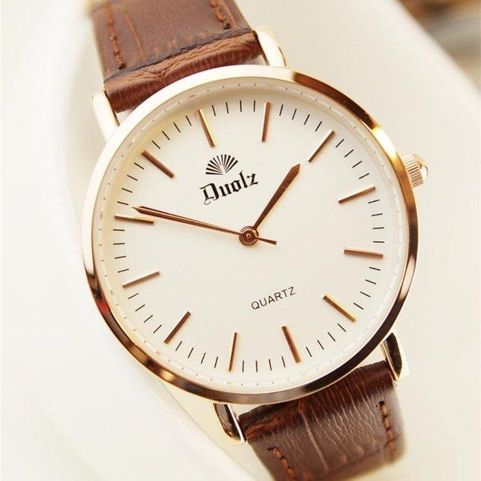韓版女錶機械石英男錶防水情侶時尚潮流超薄手錶女學生QM