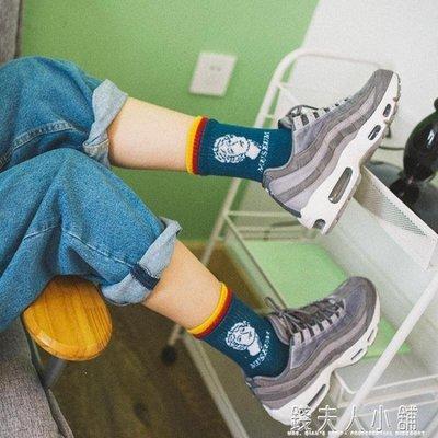 麥麥部落 襪子女中筒襪女士運動襪短襪學院風正韓高幫棉襪卡通動漫MB9D8