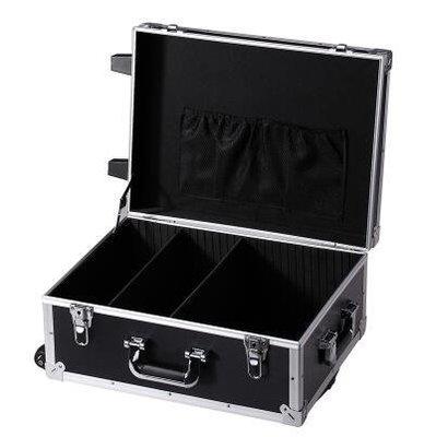 【優上】五金工具拉桿箱大號維修工具箱鋁合金箱加厚航空箱帶輪家具安裝箱「黑色空箱」