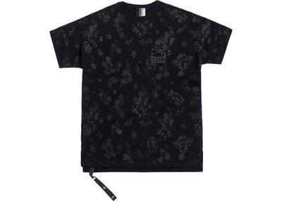 【美國鞋校】預購 Kith x mastermind WORLD Reverse Floral Tee Black 黑色