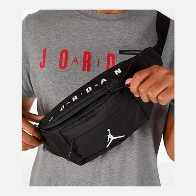 NIKE JORDAN WAIST BAG 黑白 腰包 斜肩包 郵差包 9A0092-023 HERITAGE
