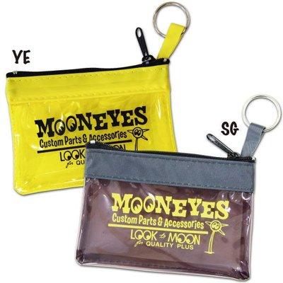 (I LOVE樂多)MOONEYES新品 多用途透明零錢/鑰匙袋 超低價 可愛 防水 多用途mooneyes