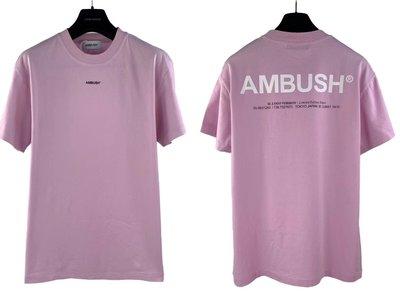 ED HOMME AMBUSH 19SS logo Tee 素面短TEE 3m 反光
