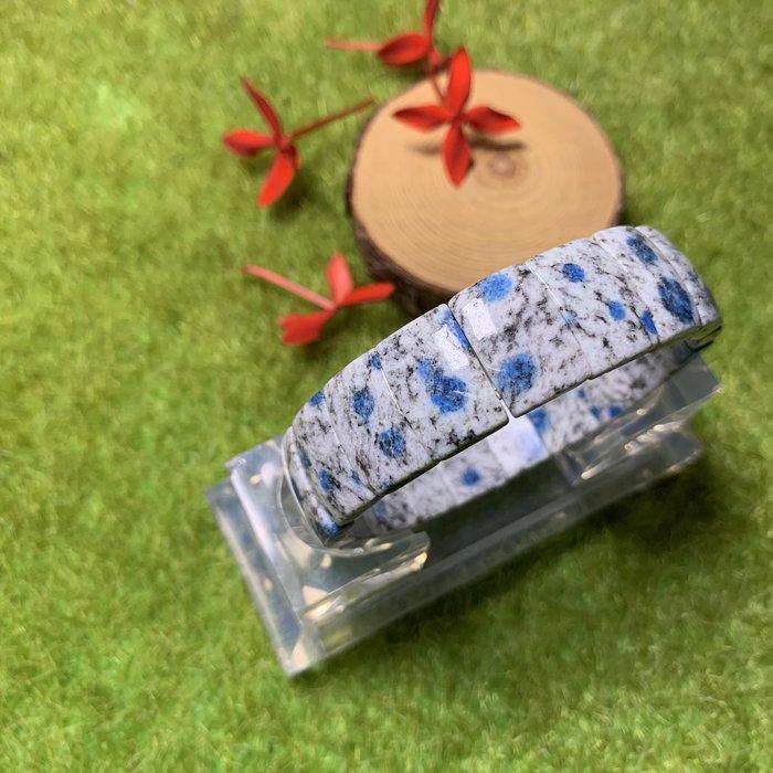 [滿藝精選] 精品收藏❤️天然K2 Blue 藍點手排 16.5mm  來自高山的珍貴礦物 創造身心的平衡 能量超強