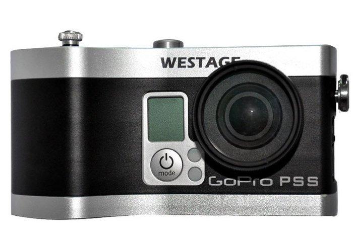 呈現攝影-WESTAGE GOPRO PSS多功能電池手把 GOPRO Hero3/3+專用 LP-E6電池 加長電力