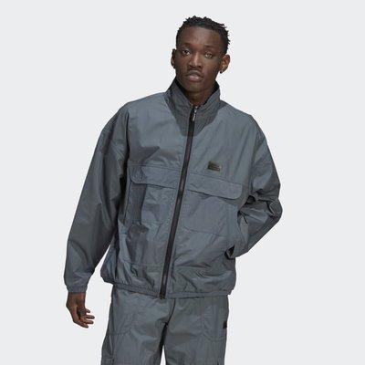 南◇2021 3月 Adidas  R.Y.V. TRACK 愛迪達 灰色 機能 大口袋 工裝 外套 夾克 GN3327