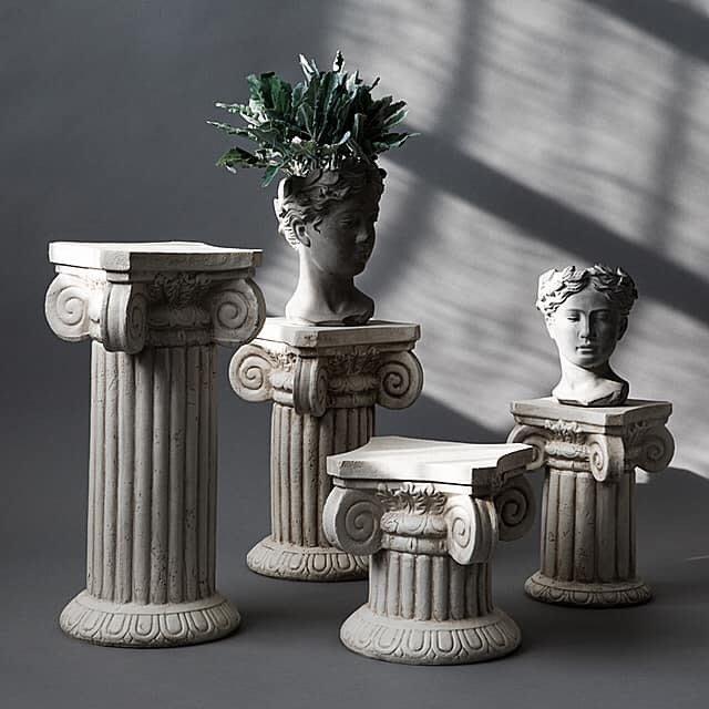 法式餐桌藝術 羅馬柱裝飾藝術展示台