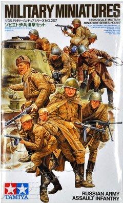 田宮兵人模型 1:35 二戰蘇聯坦克車載兵 蘇軍步兵12人 35207