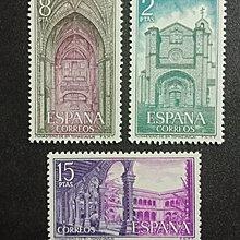 【 亂世奇蹟 】1972年西班牙城堡和修道院郵票3全__510