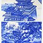青花綜合裝飾品掛盤景德鎮陶瓷器 滕王閣 開心陶瓷97