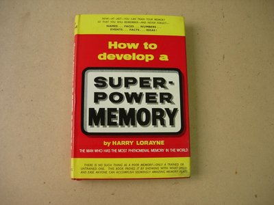 How to Develop a Super Power Memory - Hardcover – 1965 by Harry Lorayne 60年代書