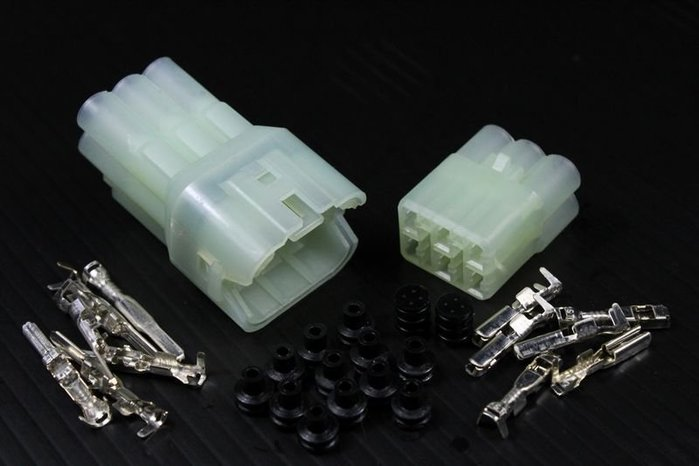 【傑西西】車用電線接頭 接頭 pin 090 HM 防水型 6孔 電系接頭 連接器 防水接