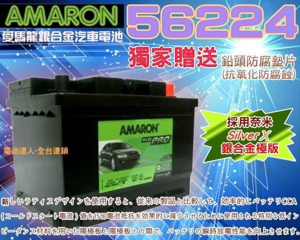 【電池達人】56224 愛馬龍 汽車電池 SHUMA 雪鐵龍 C2 C3 標誌 起亞 現代 ELANTRA 歐寶 奧迪