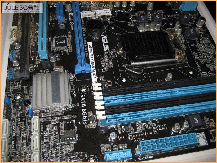 JULE 3C會社-華碩ASUS Q87M-PLUS BM6AE Q87/DDR3/三螢幕輸出/商務機/1150 主機板