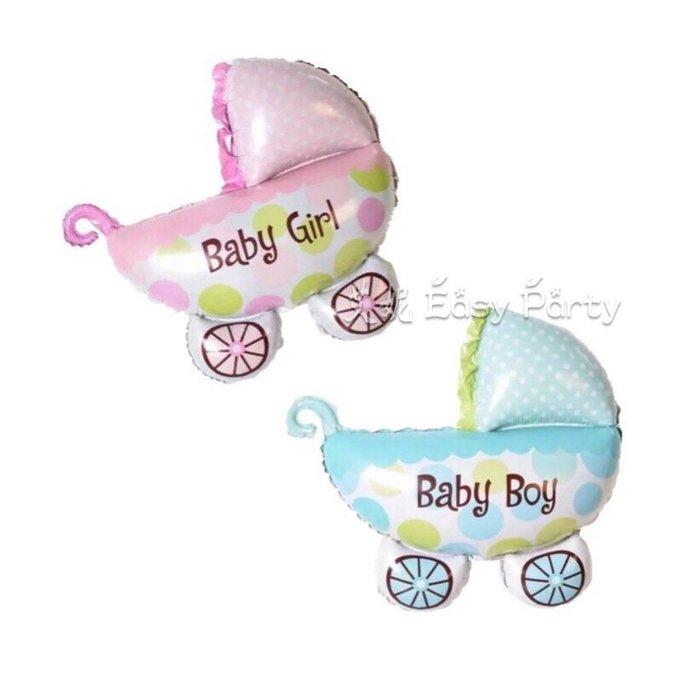 艾妮 EasyParty ◎ 現貨🎈【推車氣球】寶寶氣球 皇冠 奶瓶 嬰兒車氣球 女寶週歲 男寶 週歲佈置 生日派對