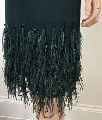 VALENTINO Skirt Ostrich Feather Green Skirt