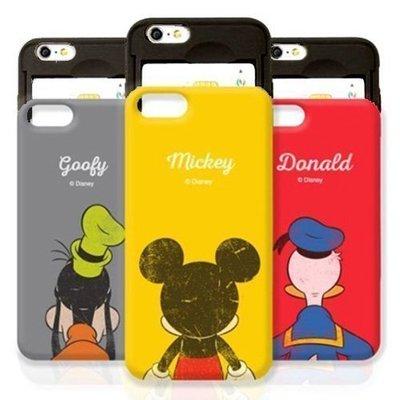 Disney 迪士尼 明星背影 防摔滑蓋卡夾 手機殼│iPhone 6 6S 7 8 Plus│z8093