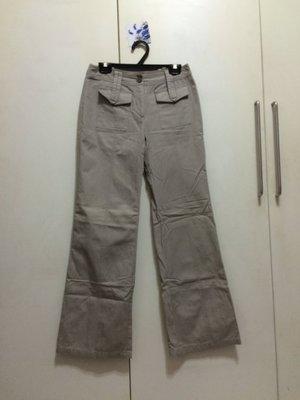 ❤夏莎shasa❤近全新百貨專櫃NON STOP淺咖啡灰色有型寬版褲/1元起標