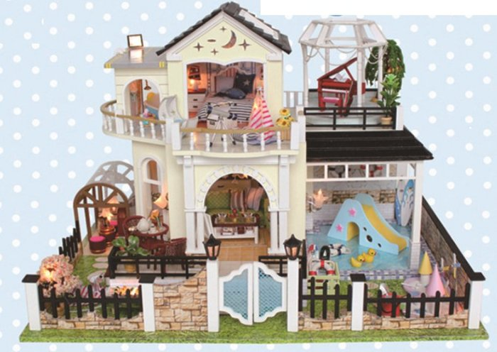 手巧家 DIY袖珍屋_月光花園 娃娃手做玩具迷你手工動手做模型創意禮物節慶女友情人節生日禮物浪漫小物