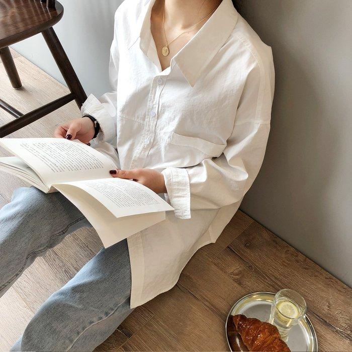 YOHO 長袖襯衫 (YS5623) 實拍棉感仿麂皮絨寬鬆長袖襯衫 長袖上衣 有3色 S-L 預購