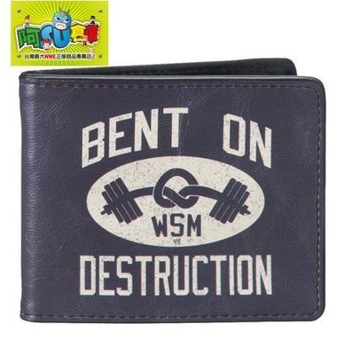 ☆阿Su倉庫☆WWE摔角 Mark Henry Bent On Destruction Wallet 世界最強壯男人皮夾