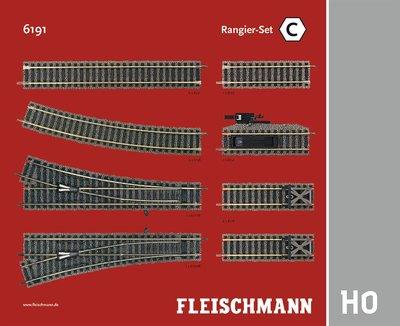 傑仲 博蘭 FLEISCHMANN 鐵軌零件 Track pack – Shunter Set C 6191 HO