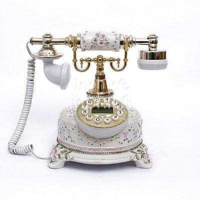 INPHIC-歐式電話機 座式田園電話座機 創意家用禮品固定電話