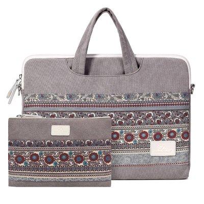 手提包帆布電腦包-拼接民族風花紋輕盈男女包包73vy8[獨家進口][米蘭精品]