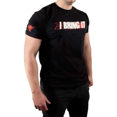 WWE 摔角衣服 ROCK I Bring it Authentic 巨石強森 2011回歸款 黑色短袖T恤  買三免運