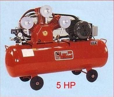 ╭☆優質五金☆╮寶馬 全自動皮帶式空壓機附5HP三相馬達-155L