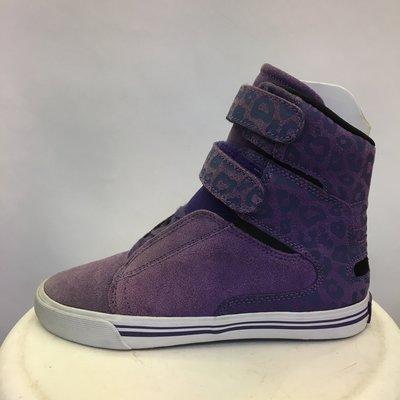 瑕疵品 特價 BEETLE SUPRA SOCIETY WOMENS 女款 紫色 高筒 魔鬼氈 SW34002 6.5