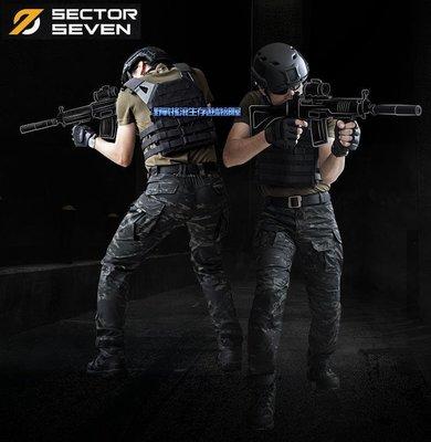 【野戰搖滾-生存遊戲】SECTOR SEVEN IX2鷹眼戰術長褲【Multicam Black】黑色多地形迷彩褲工作褲
