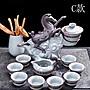 5Cgo中式哥窯半自動茶具套裝家用功夫茶杯陶...