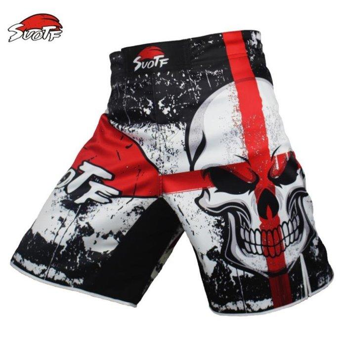 SUOTF搏擊MMA短褲泰拳健身房運動散打服UFC格鬥訓練褲