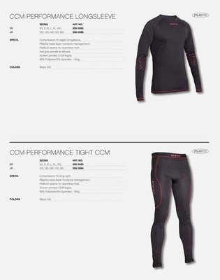 CCM Perform 曲棍球 緊身 排汗衣褲組 冰球 直排輪曲棍球 JR-XL號約160cm JR-XS號約120cm