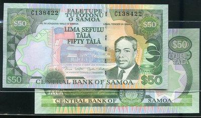 Western Samoa (西薩摩亞紙幣), P36 , 50-TALA , ND(2005) , 品相全新UNC