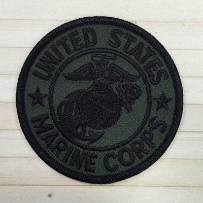 【就愛繡~時尚小物】 刺繡臂章、帽子燙貼布刺繡燙布-U S MARINE CORPS美國海軍陸戰隊
